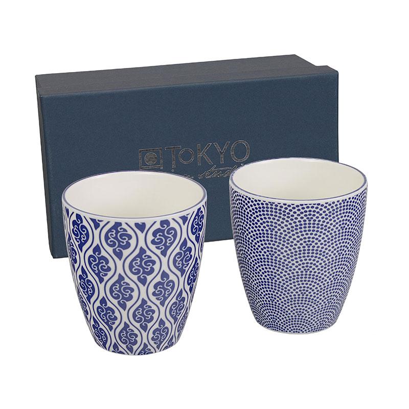 2er set becher 39 japan blau 39 japan blau tokyo design studio geschirr sets japanische. Black Bedroom Furniture Sets. Home Design Ideas