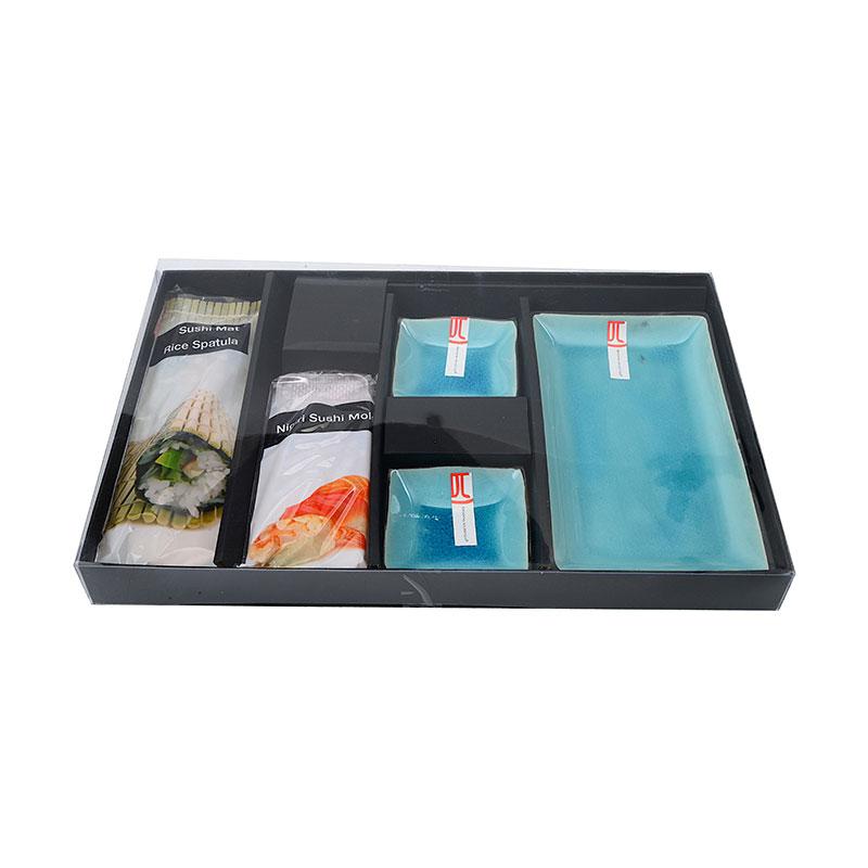 5tlg sushi set 39 t rkise serie 39 mit nigiri f rmchen und. Black Bedroom Furniture Sets. Home Design Ideas