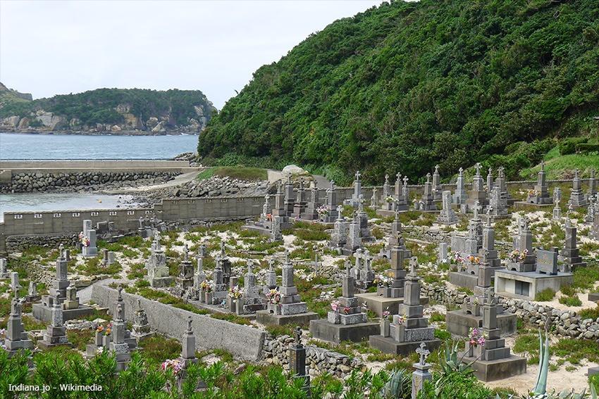 Christlicher Friedhof auf der Insel Kashiragashima
