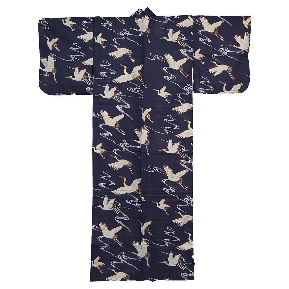 kimono f r damen wei er kranich hier kaufen. Black Bedroom Furniture Sets. Home Design Ideas