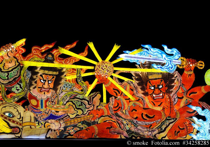 Aomori Nebuta Matsuri, das Laternenfest in Japans Norden
