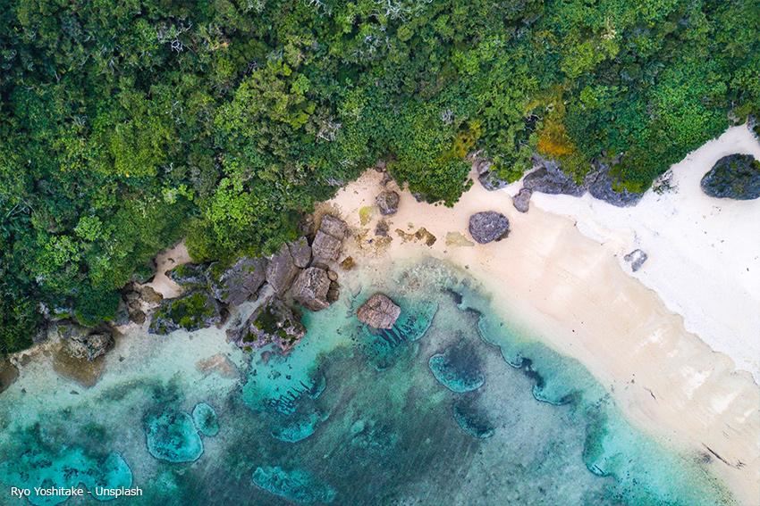 Wunderschöner Strand von chiba wada, ohara