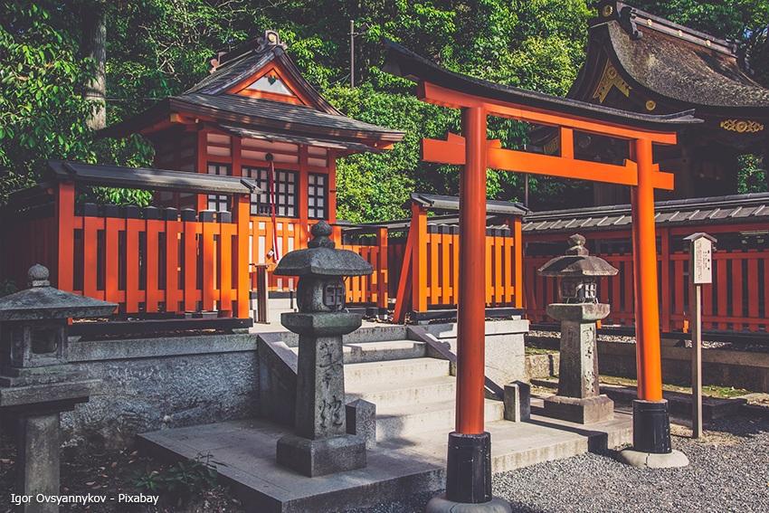 Ein typischer Schrein im Shinto Glauben