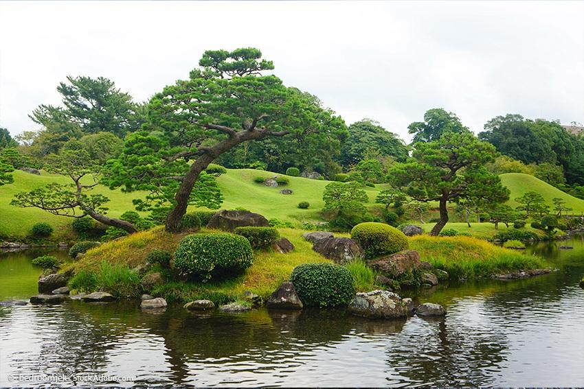 Suizenji-Garten in Kumamoto