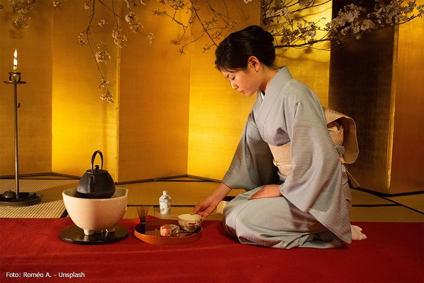 Traditionelle japanische Teezeremonie Chado