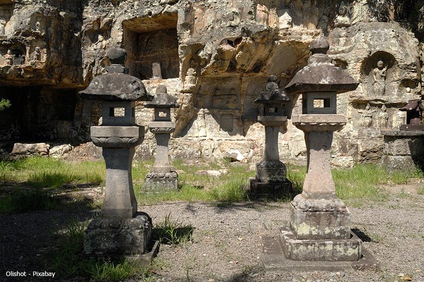 Ein Ort, an dem Buddhas und Kami verehrt werden.