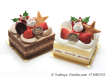 Christmas-Cake gehört zu einem japanischen Weihnachtsfest immer dazu.
