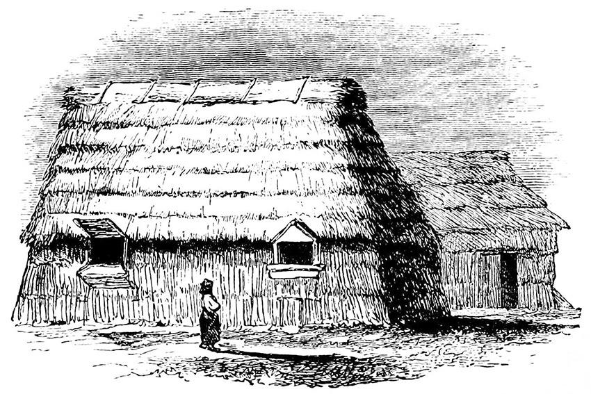 Ureinwohner Japan - Häuser