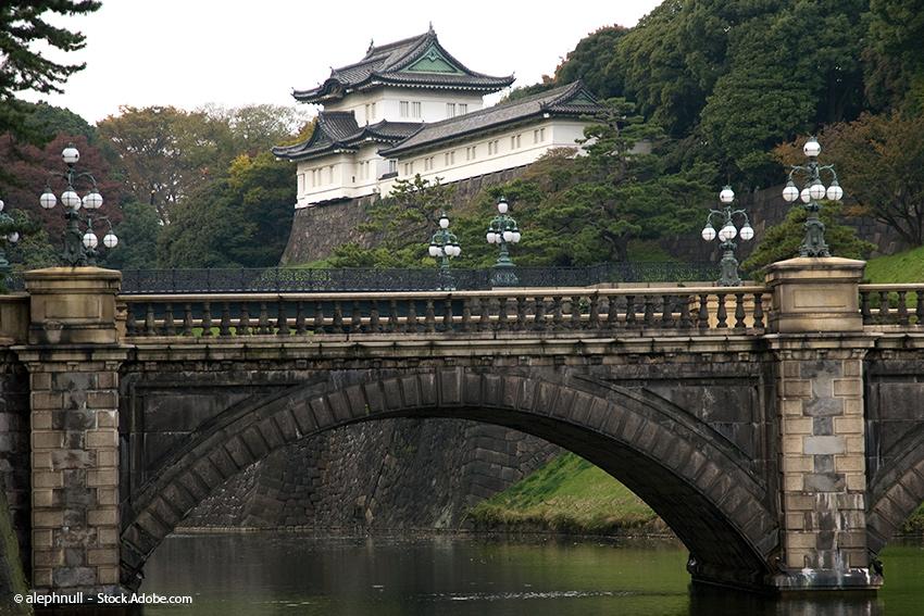 Kaiserpalast in Tokio, Japan, Burg Edo