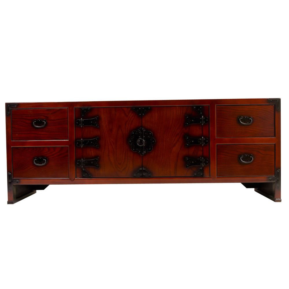 anrichte mit dunklen beschl gen japanisch wohnen. Black Bedroom Furniture Sets. Home Design Ideas