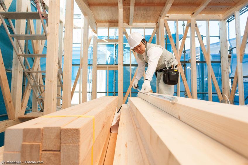 Japanischer Bauarbeiter japanische Ingenieurskunst