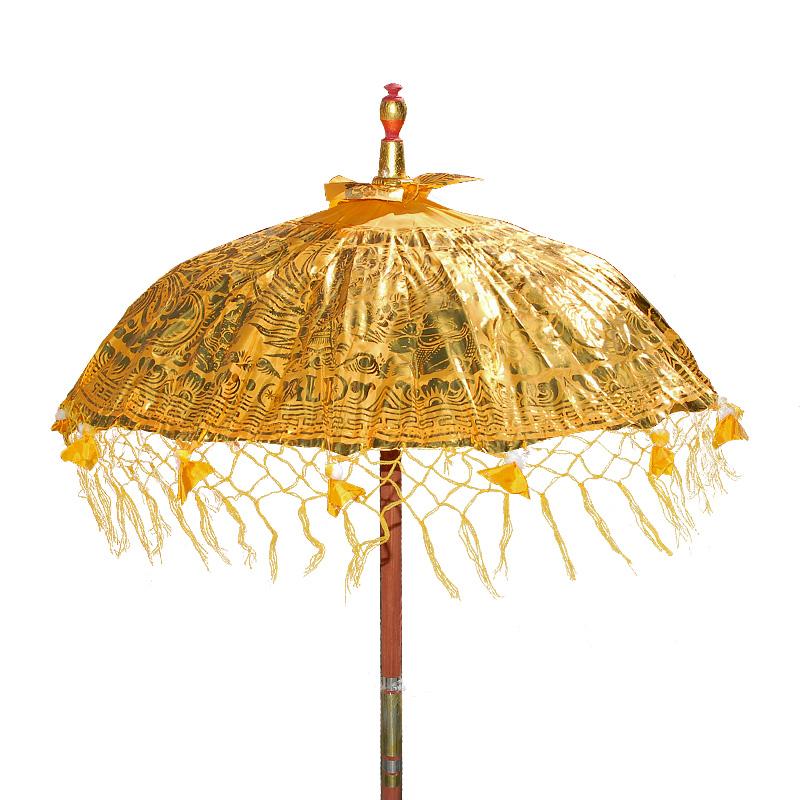 bali schirm gold sonnenschirm mit asia flair. Black Bedroom Furniture Sets. Home Design Ideas