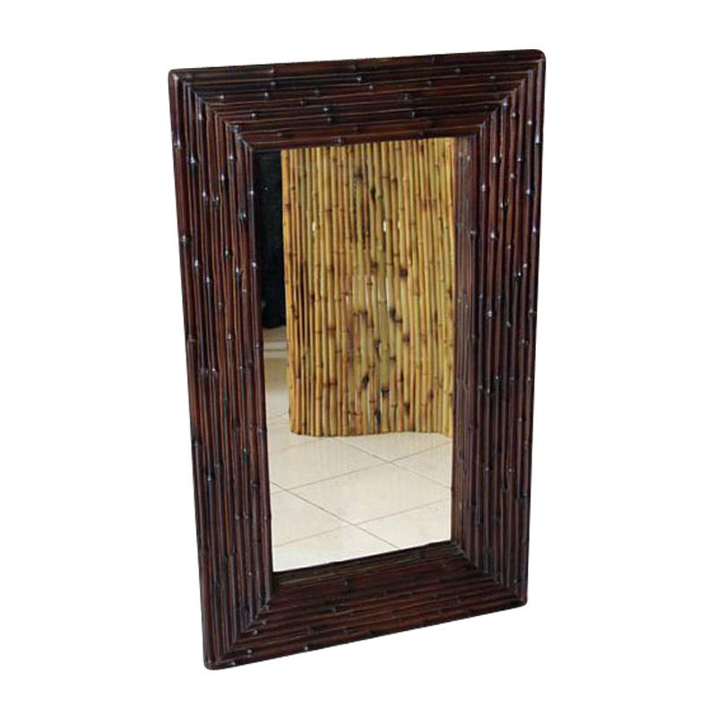 bambusspiegel dunkelbraun spiegel dekorieren japanwelt. Black Bedroom Furniture Sets. Home Design Ideas