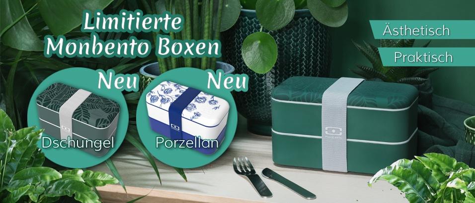 Neue Limitierte Bento-Boxen von Monbento sind eingetroffen! Außerdem viele neue Designs und neues Bento Zubehör.