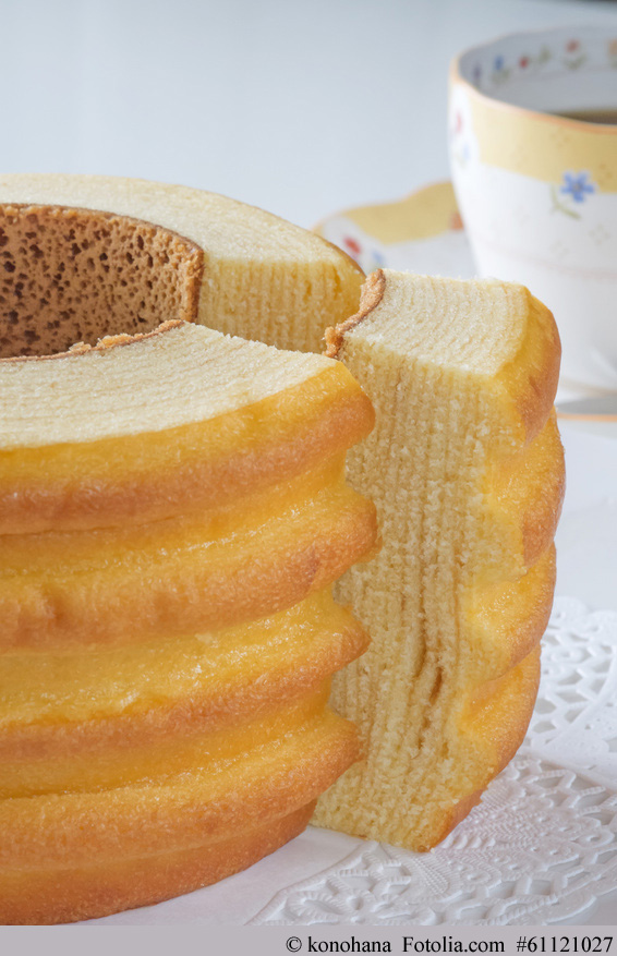 Baumkuchen ist ein Japan ein ganzjähriger Verkaufshit Backwaren in Japan