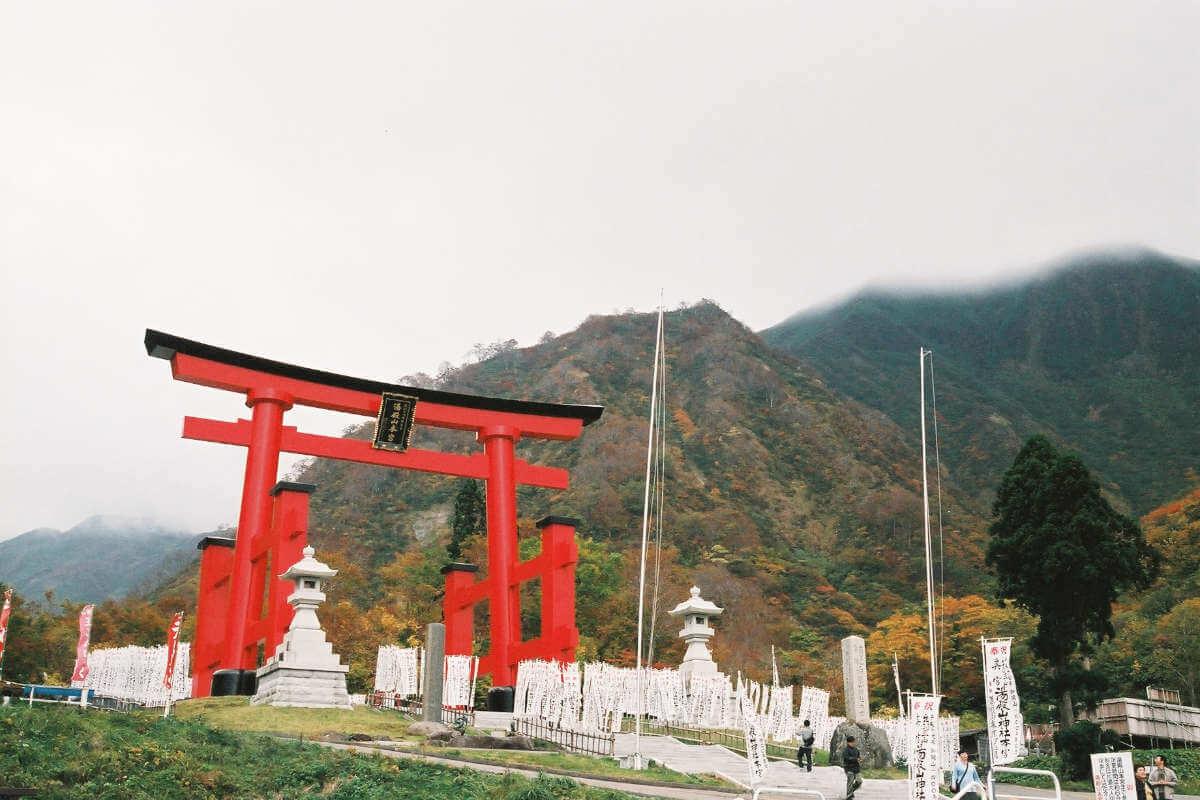 Tori am Heiligtum von Yudono