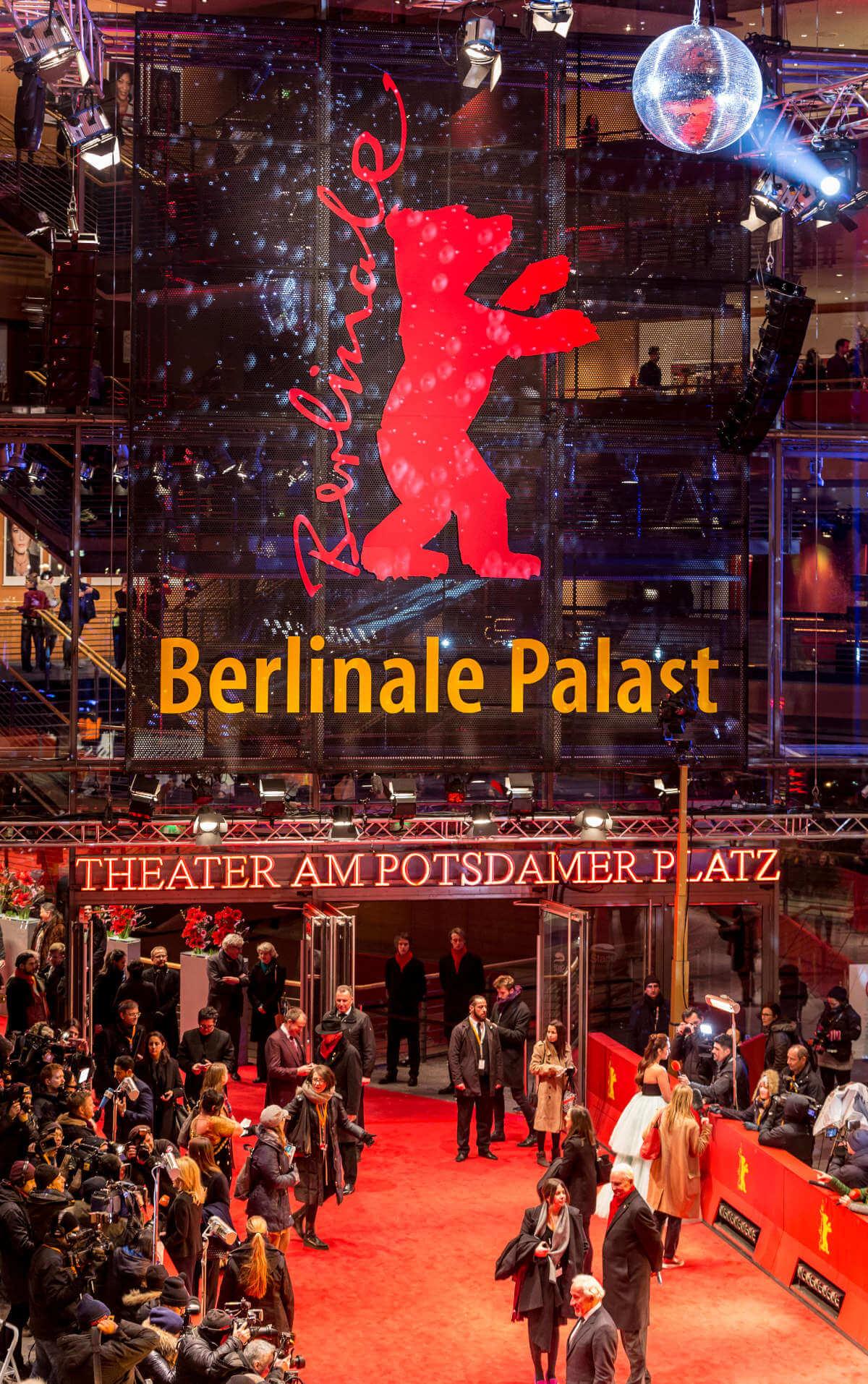 Der rote Teppich bei der Berlinale am Potsdamer Platz