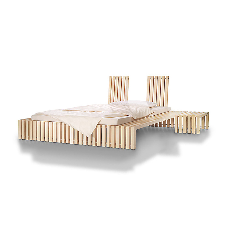 Bett aus Massivholz DITO | Japanwelt