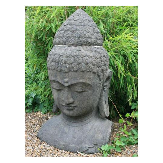 buddha b ste aus lavastein figuren skulpturen garten japanwelt. Black Bedroom Furniture Sets. Home Design Ideas