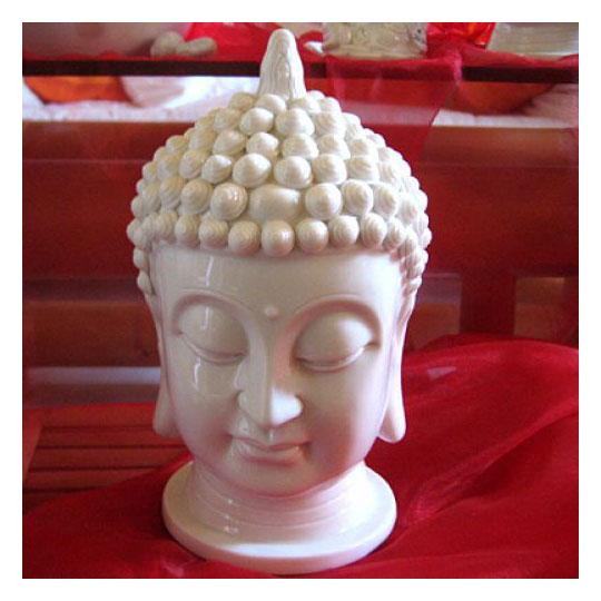 buddhakopf aus porzellan figuren skulpturen garten japanwelt. Black Bedroom Furniture Sets. Home Design Ideas