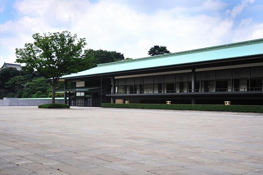 Empfangshalle von Chōwaden, das größte Gebäude des Kaiserpalastes in Tokio