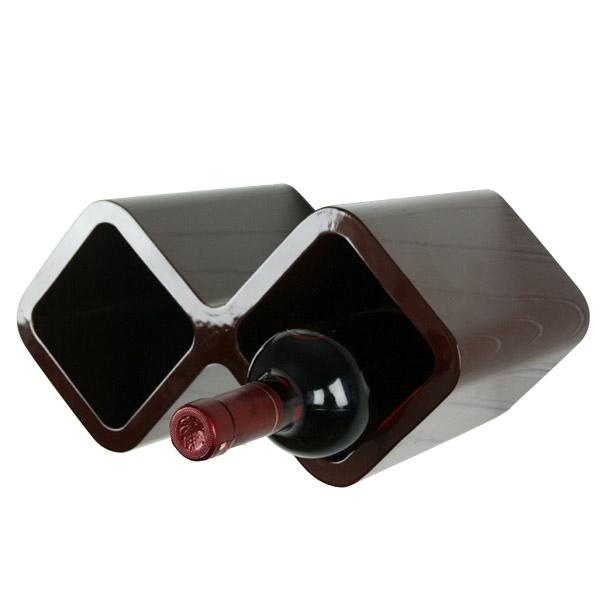 cube weinregal f r zwei flaschen regale wohnen japanwelt. Black Bedroom Furniture Sets. Home Design Ideas