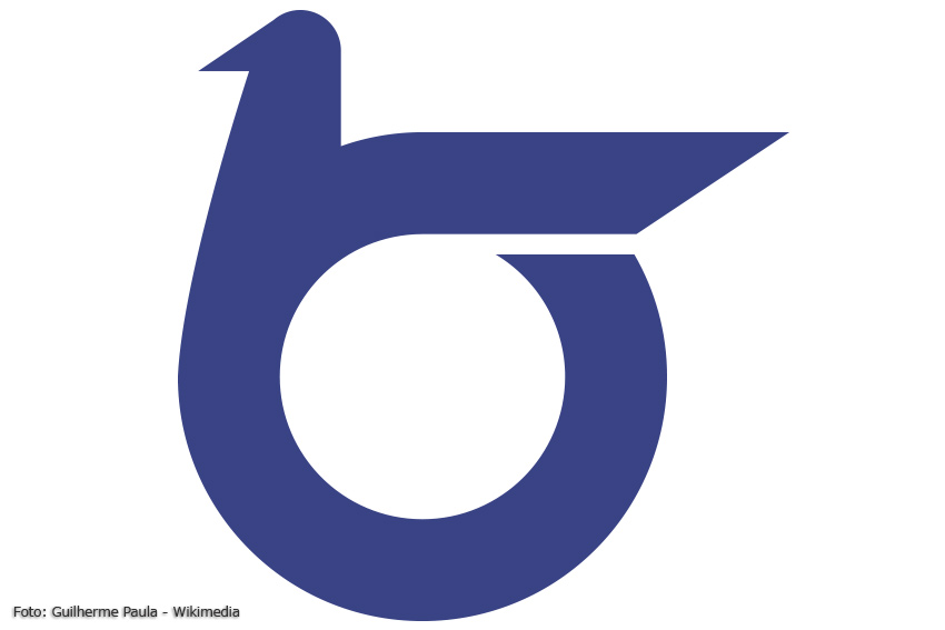 Rebus-Monogramm der Präfektur Tottori