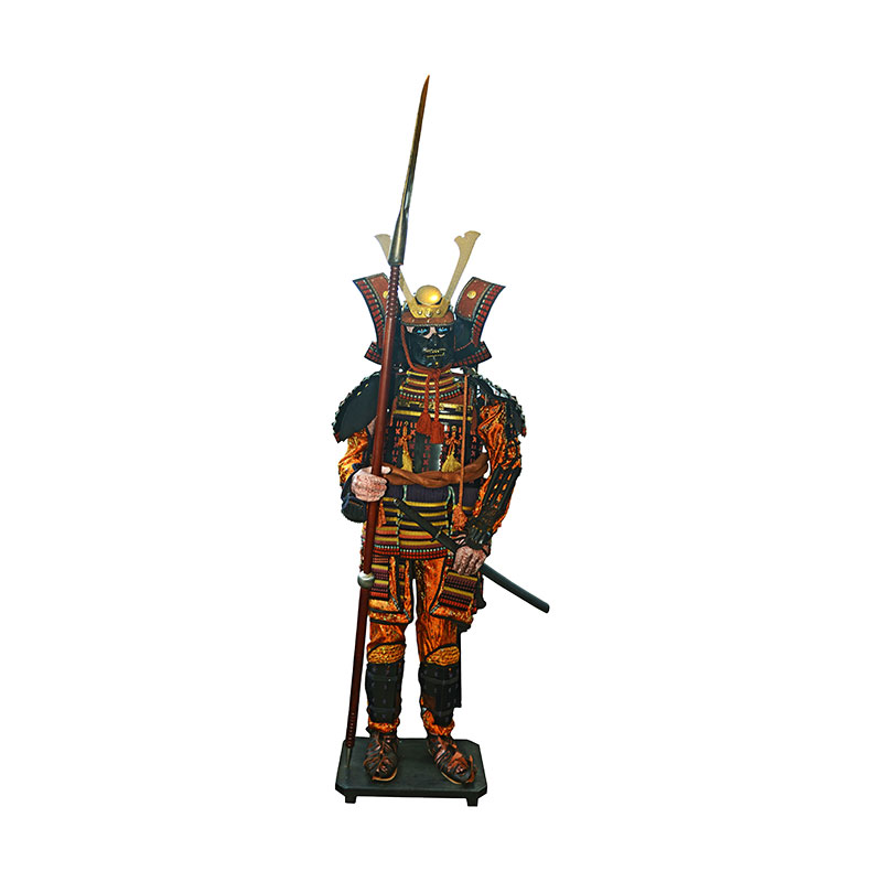 deko samurai r stung 200cm stehend puppen traditionelles japanwelt. Black Bedroom Furniture Sets. Home Design Ideas
