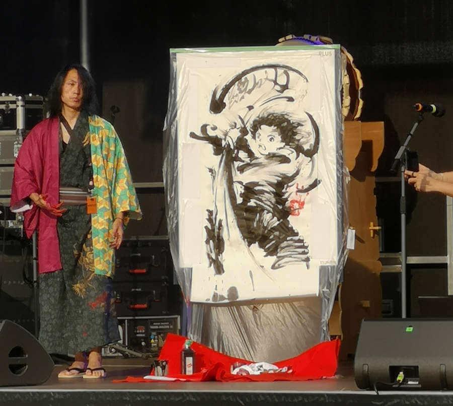 Live Kunst Perfomance beim Main Matsuri 2021