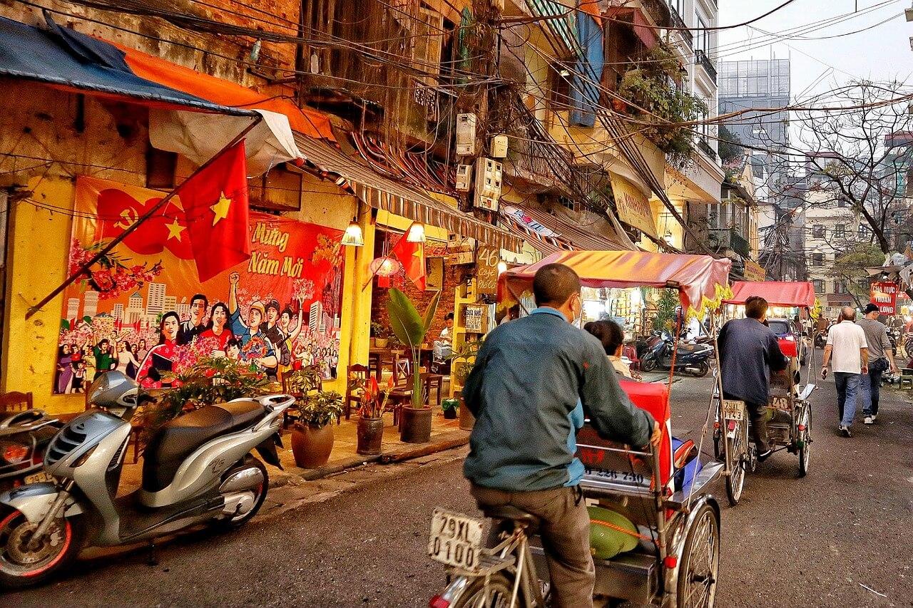 Vietnamesische Fahrrad-Rikscha