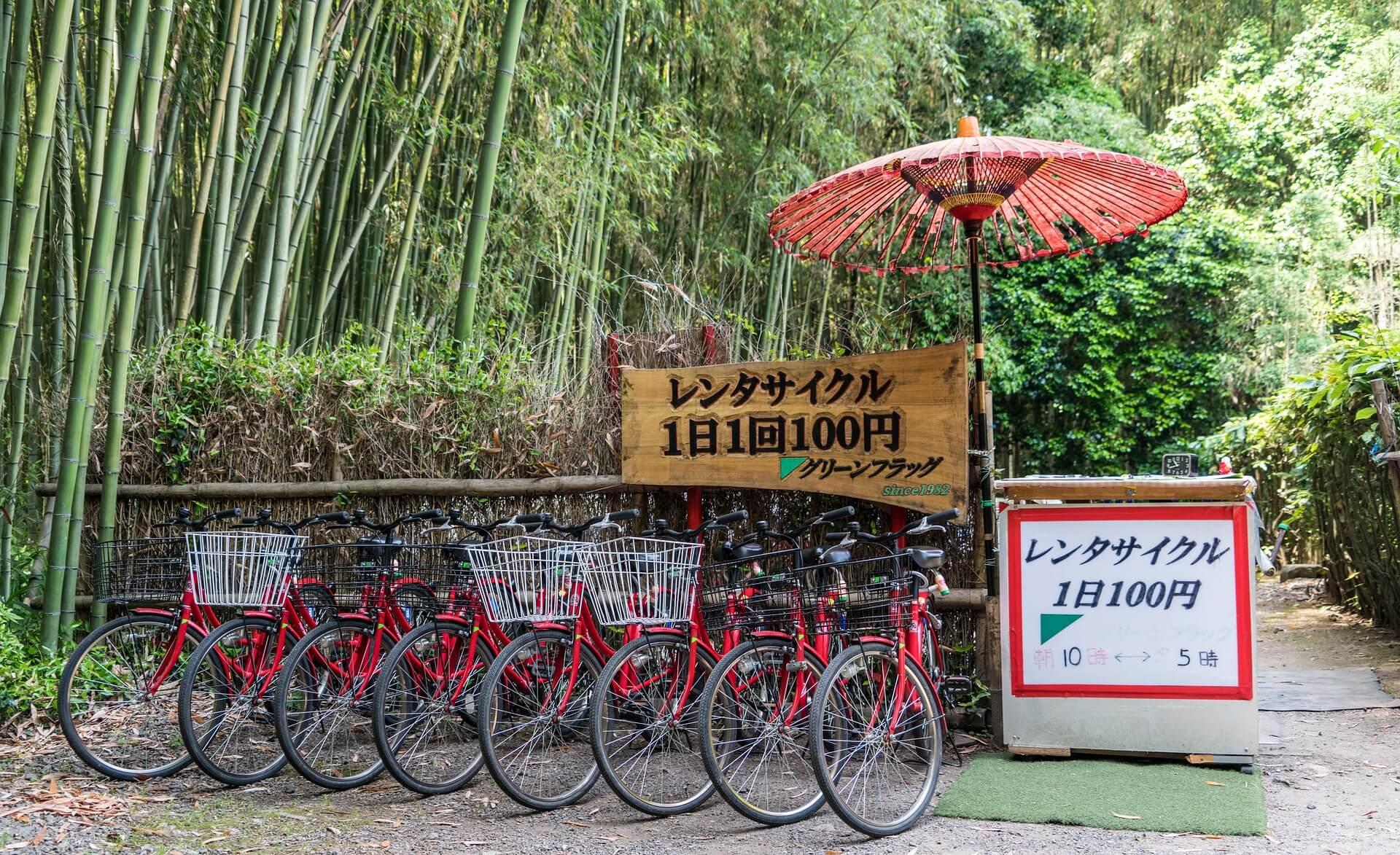 Drahtesel zum Leihen in der Hauptstadt Tokios