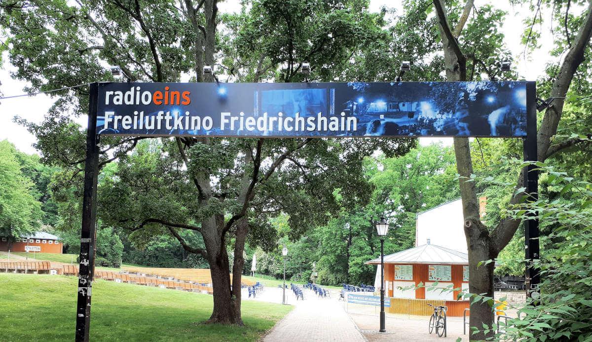 Die Location des Freiluftkinos Friedrichshain