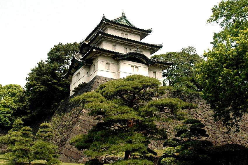 Der Fujimi-yagura - Wachgebäude auf dem Innengelände des Kaiserpalastes Tokyo