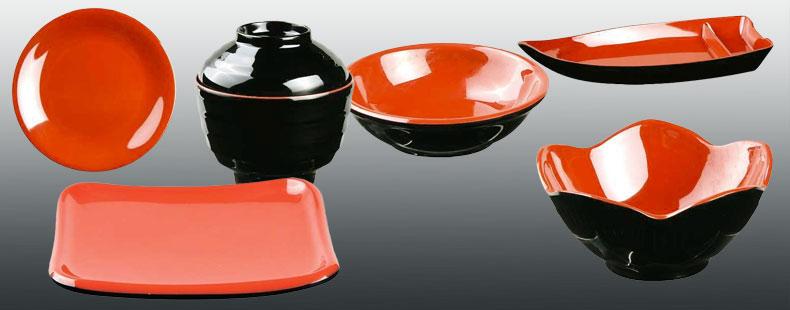 melamine geschirr sets japanische k che japanwelt. Black Bedroom Furniture Sets. Home Design Ideas
