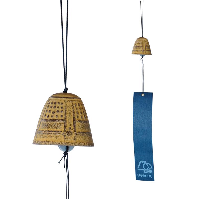windspiel feng shui klein gelb japanwelt. Black Bedroom Furniture Sets. Home Design Ideas