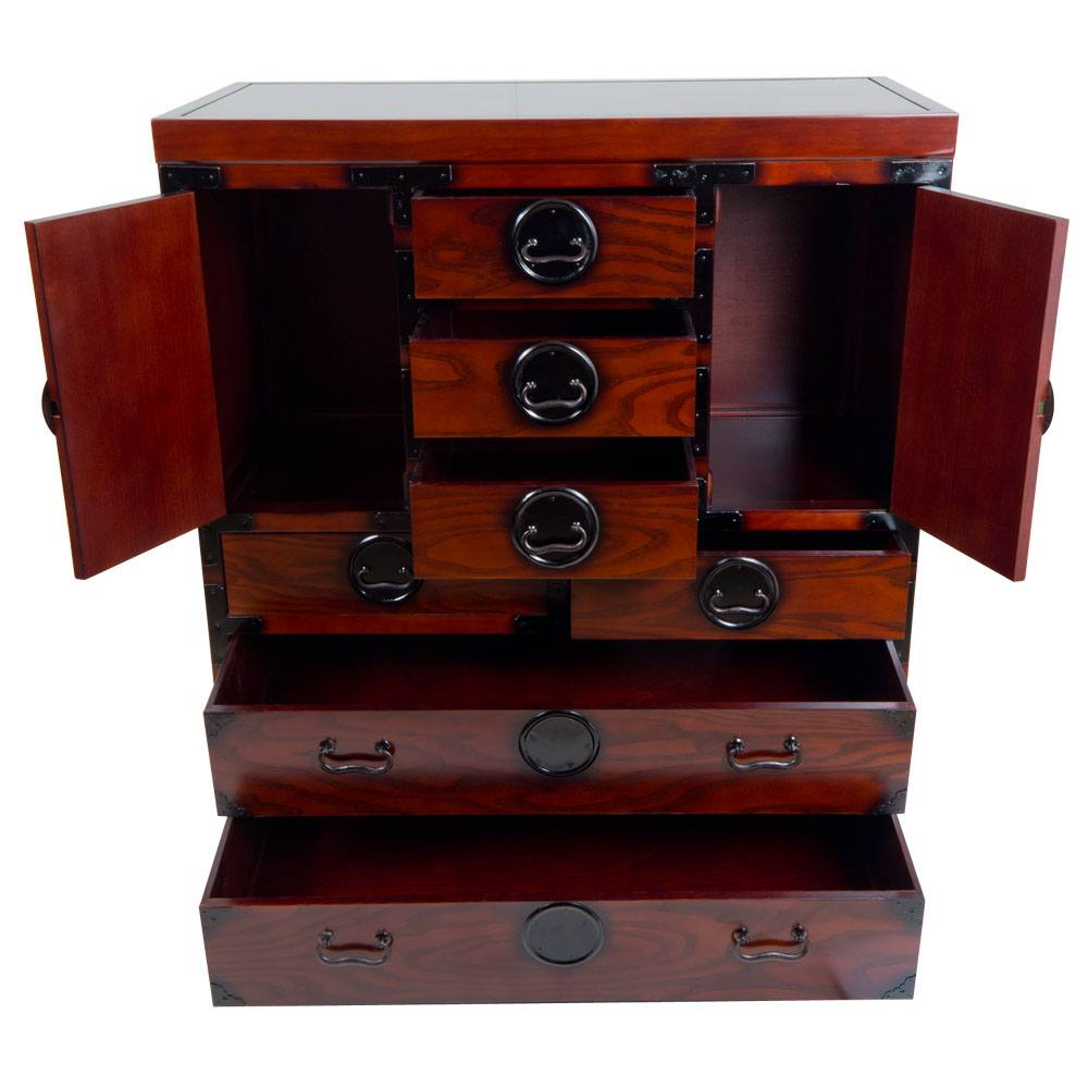 gro er schubladen tansu dunkel japanisch wohnen. Black Bedroom Furniture Sets. Home Design Ideas