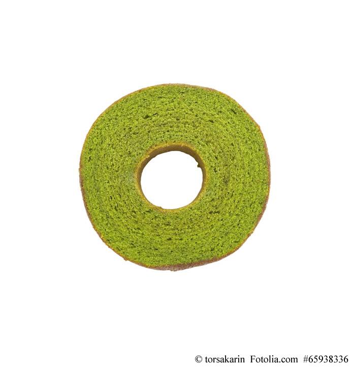 Matcha (Grüntee) Baumkuchen gehört zu den beliebtsten japanischen Baumkuchen-Arten