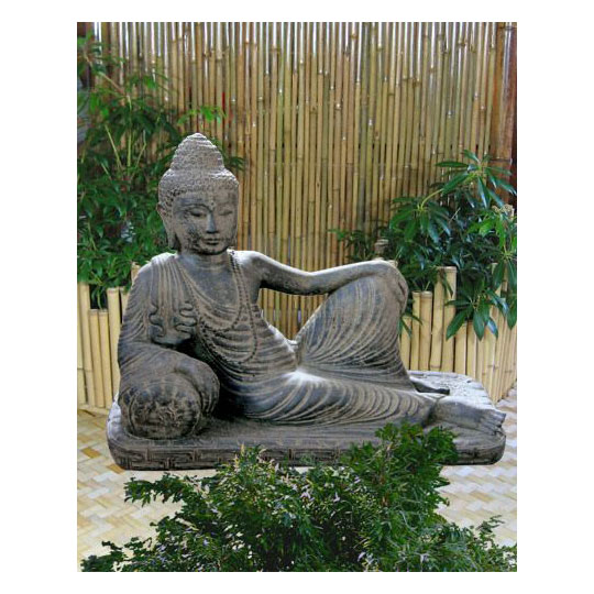 halbliegender buddha lavagu figuren skulpturen garten japanwelt. Black Bedroom Furniture Sets. Home Design Ideas