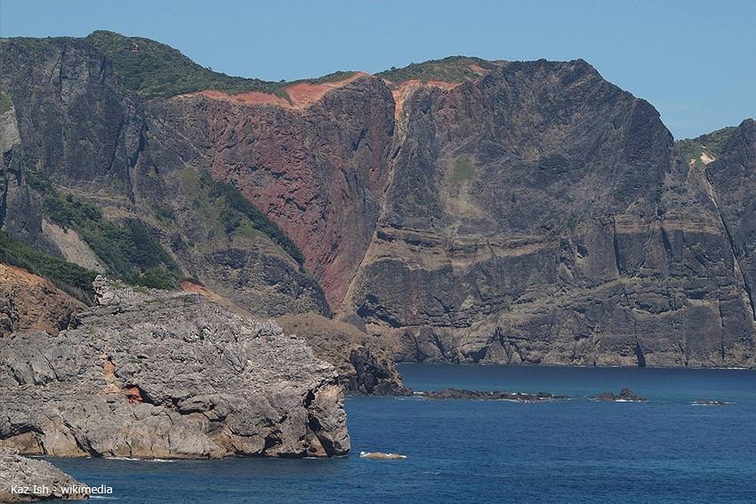 Heart Rock Felsen auf Minami-Jima auf Ogasawara