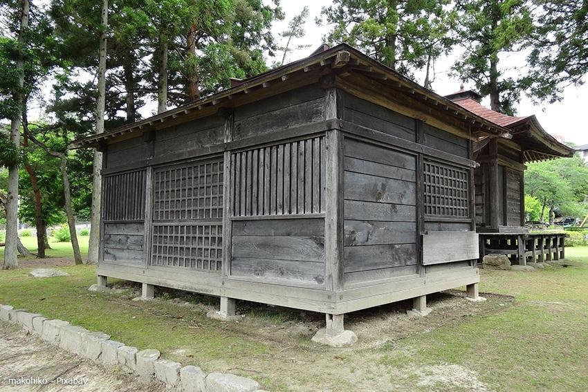 Eine historische Tempelanlage auf Hiraizumi