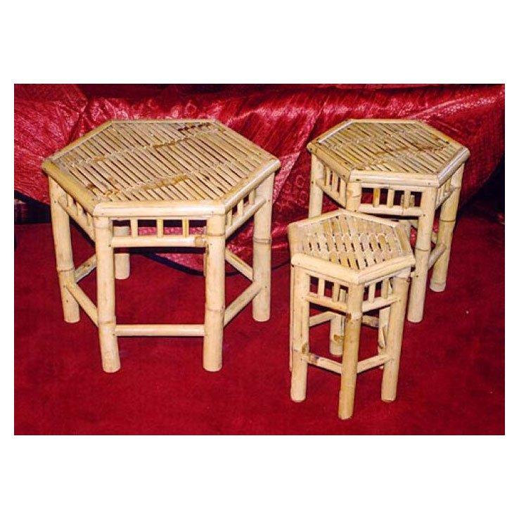 3er set sechseckige bambushocker g nstig kaufen bei japanwelt. Black Bedroom Furniture Sets. Home Design Ideas