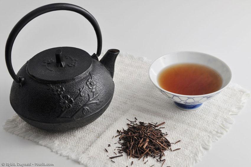 Grüntee ist nicht gleich Grüntee. Jede Sorte hat ihren ganz eigenen Geschmack. Hojicha, zum Beispiel, besitzt ein feines Röstaroma und eine eher orange Farbe, da die Teeblätter nach dem Trocknen geröstet wurden.