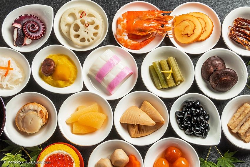 Saisonale Zutaten der Japanischen traditionellen Küche