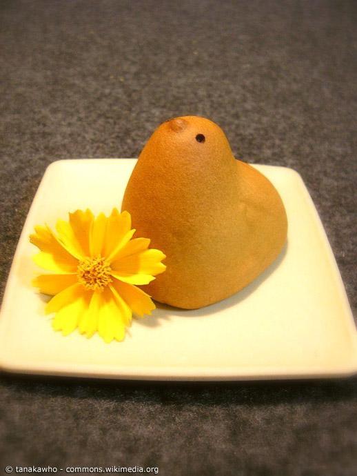 Nichts ist niedlicher als ein kleines Küken aus Kuchenteig. Hiyoko ist ein im wahrsten Sinne des Wortes süßes Souvenir aus Fukuoka.