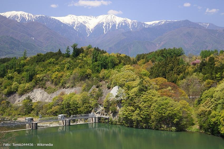 Tenryukyo-Tal am Rand der südlichen japanischen Alpen