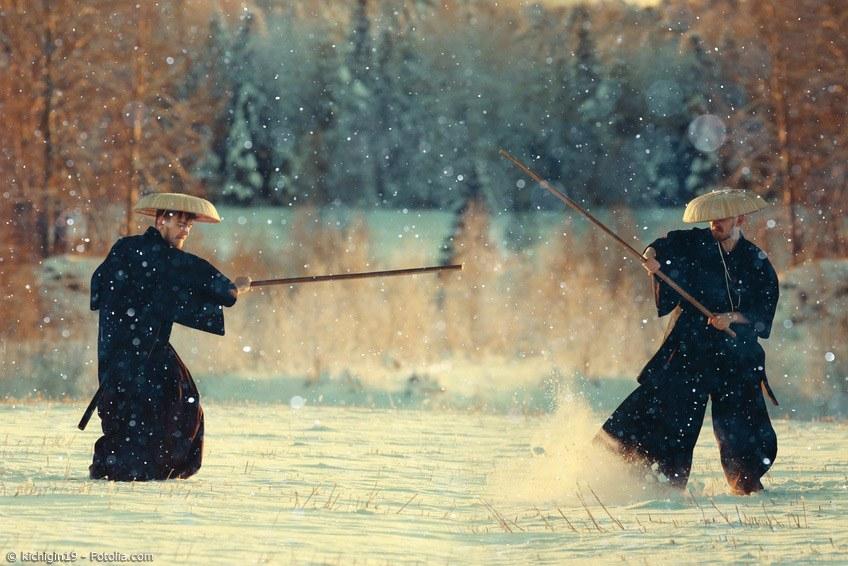 Japanische Krieger sind nicht nur die Samurai. Auch Kampfmönche gab es vereinzelt in Japan.