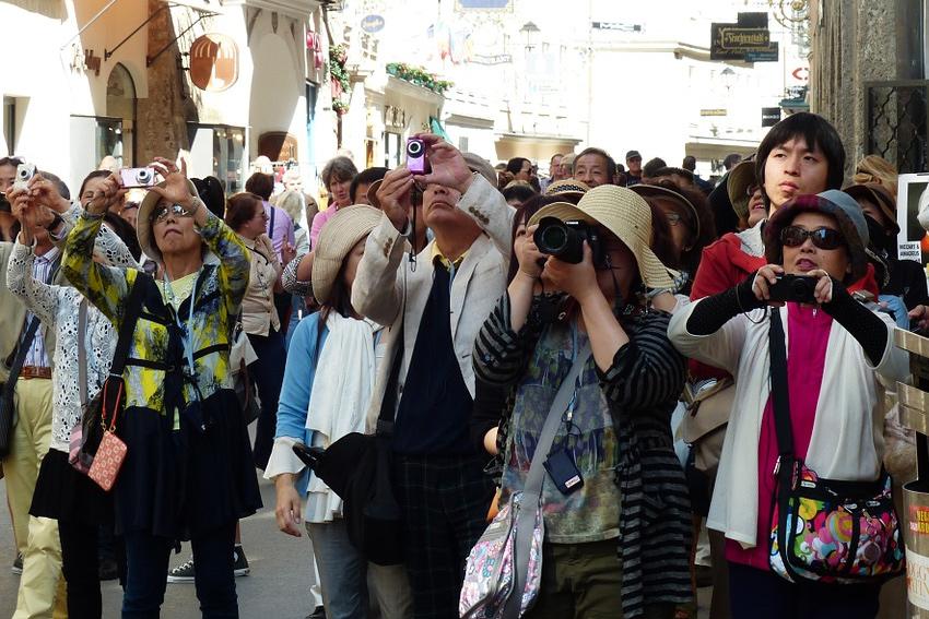 Japanische Touristen in Deutschland