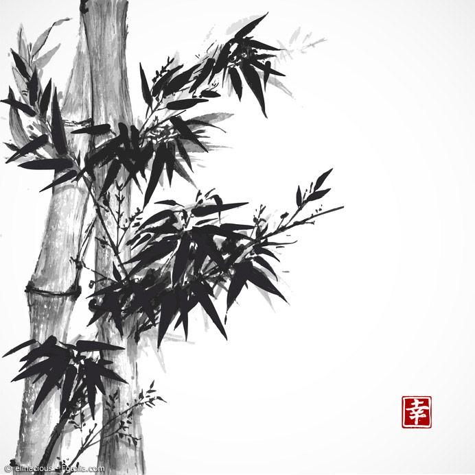 Dynamische Striche, die mehr andeuten als tatsächlich abbilden – das ist die Kunst des Sumi-E.