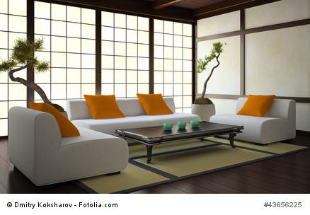 Modernes japanisches Wohnzimmer