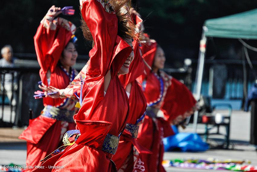 Tanz-Show im japanischen Stil